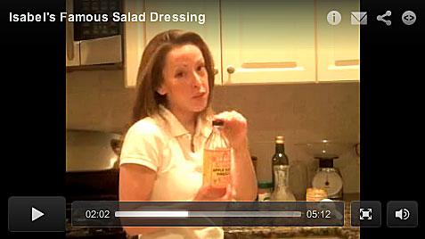 VIDEO > Isabel De Los Rios Homemade Organic Salad Dressing Recipe
